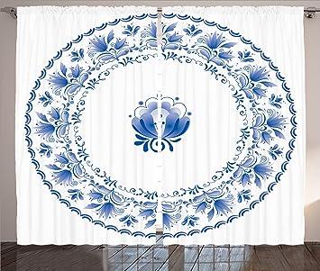 Mandala Einrichtung Vorhänge Durch Ambesonne, Country Style Floral Soft  Farbe Kreis Muster Mit Persischen Eigenschaften