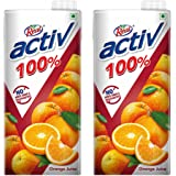 Real Activ, Orange, 1L (Pack of 2)