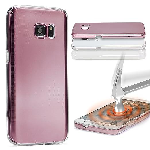 4 opinioni per URCOVER Custodia 360 Gradi Metal Look | LG G5 | Cover Completa Morbida in Due