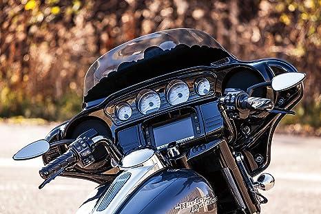 Kuryakyn Chrome Tri-Line Inner Fairing Mirror Cover Plugs Harley Touring /'14-/'17
