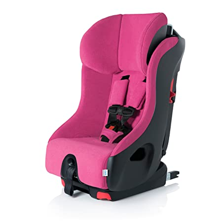 Clek Foonf Rigid Latch Convertible Baby and Toddler Car Seat, Rear and Forward Facing with Anti Rebound Bar, Flamingo 2018