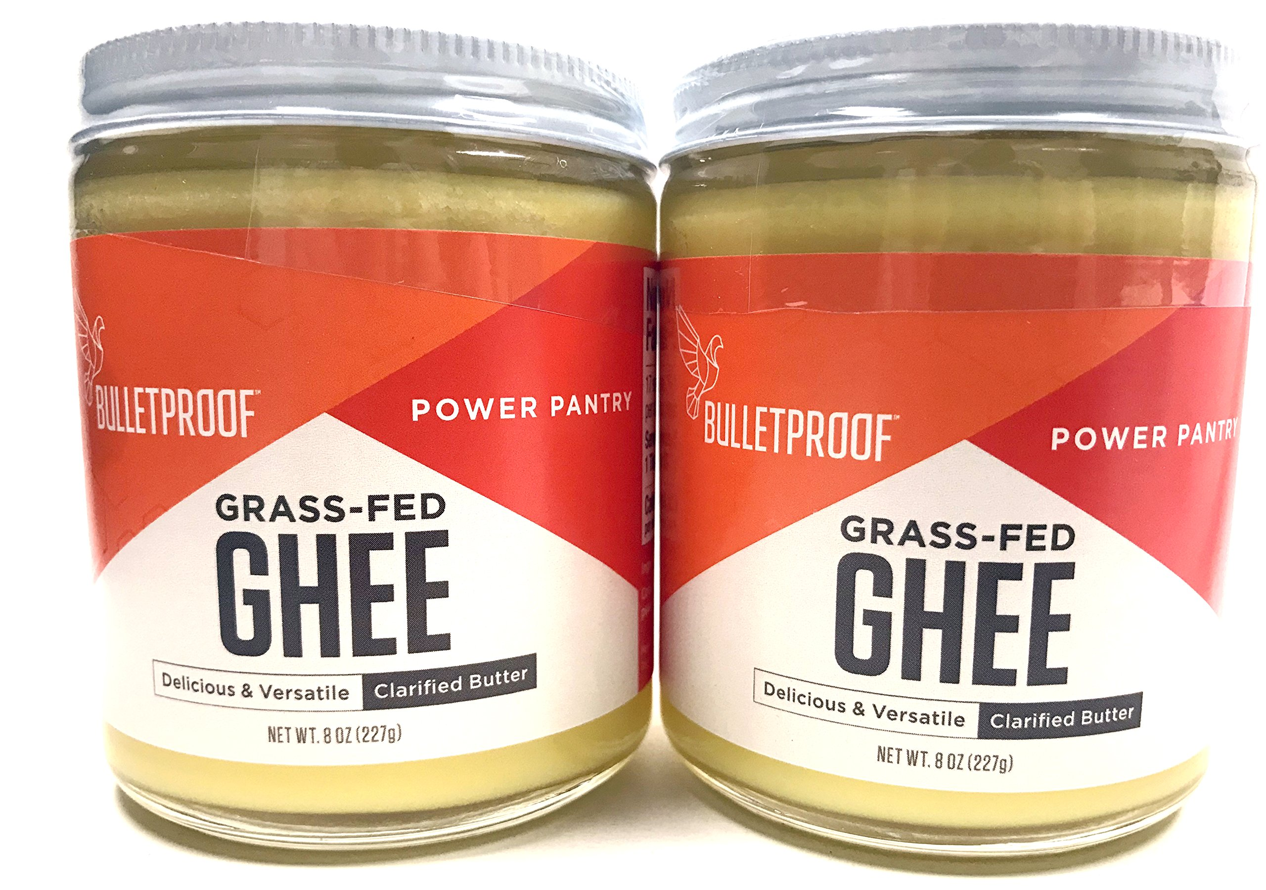Bulletproof Grass-Fed Ghee, Quality Fat from Pasture-Raised Cows 8 oz | 2 Packs