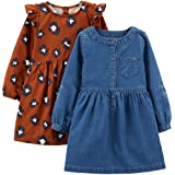 2er Pack Simple Joys by Carters Unisex Baby 2-Pack Short-Sleeve and Sleeveless Dress Sets Infant-and-Toddler-Playwear-Dresses