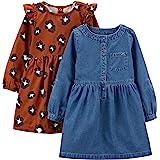 Simple Joys by Carter's baby-girls 2-pack Long-sleeve Dress Set