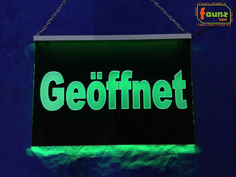 abierto Verde LED Cartel o su eig. Texto publicitario en ...