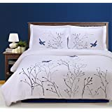 Superior Home City, Bed Linen Set, Blue - Double