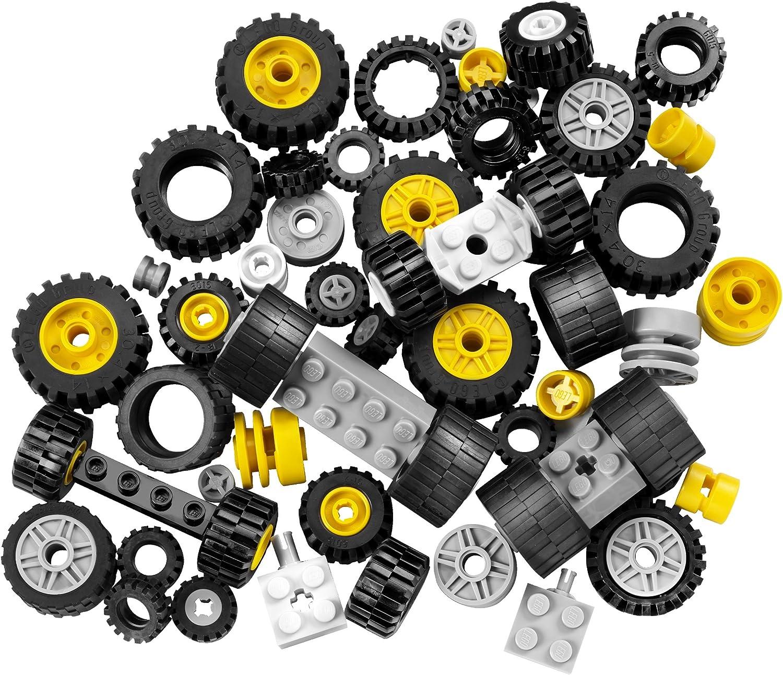 LEGO LEGOS Set of  4  Hard Plastic Wheels  SPOKED  BLACK