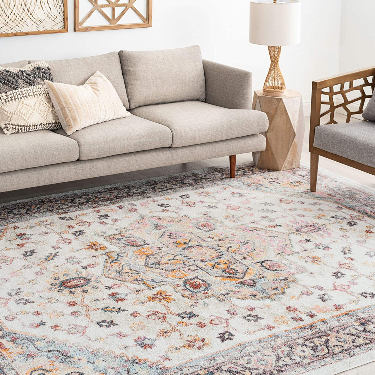 Amazon Com Kinsley Taupe 8x10 Rectangle Area Rug For Living Bedroom Or Dining Room Traditional Oriental Kitchen Dining