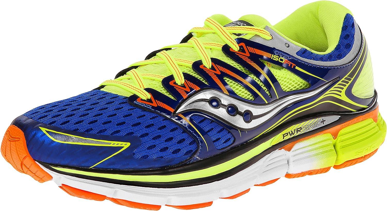 Saucony Triumph 12 - Zapatillas de Running Unisex, Color Azul/Amarillo/Naranja, Talla 49: Amazon.es: Zapatos y complementos