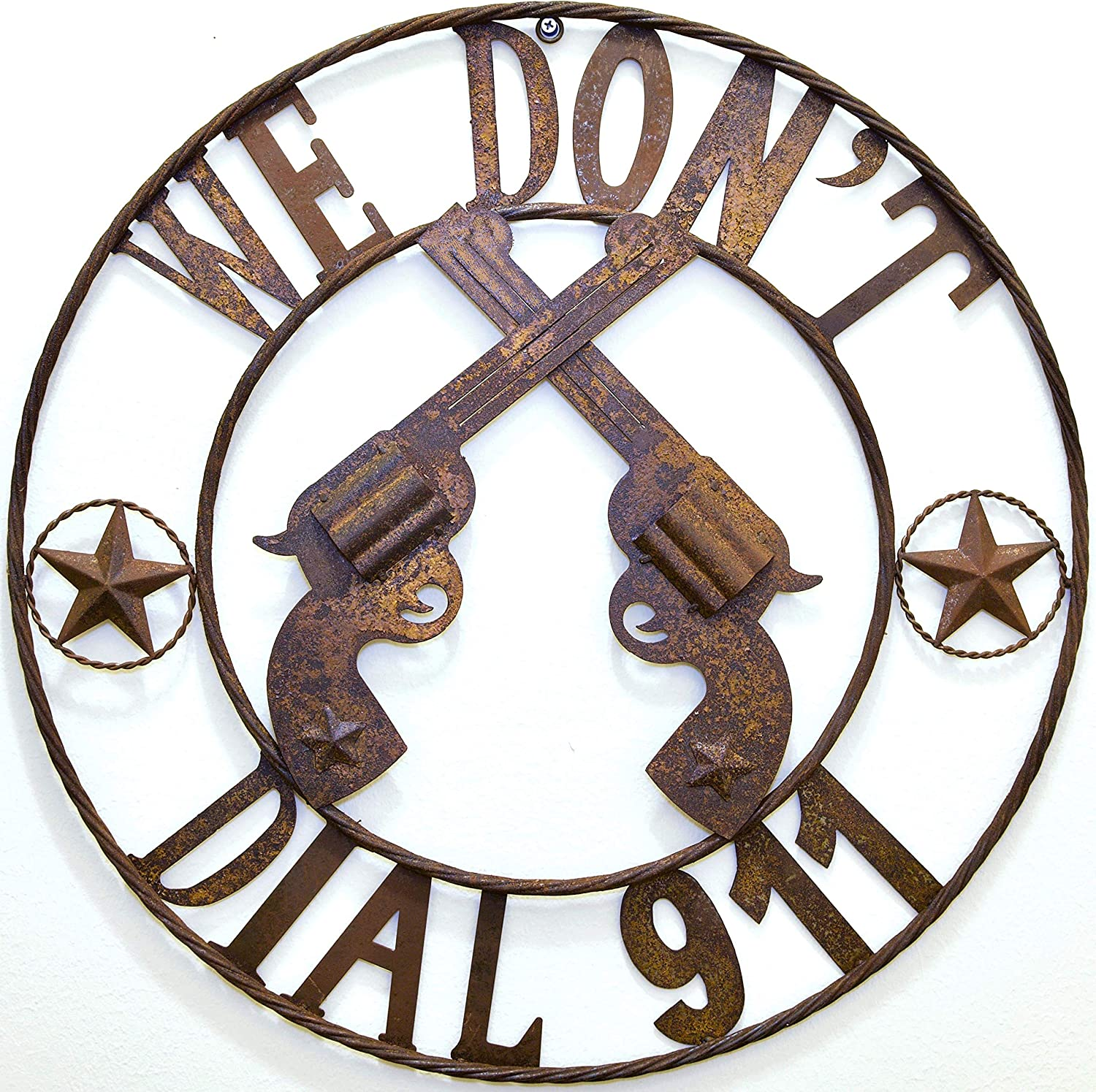 "BestGiftEver Metal We Don't Dial 911"" Circle Sign Hanging Decoration - Don't Call 911"