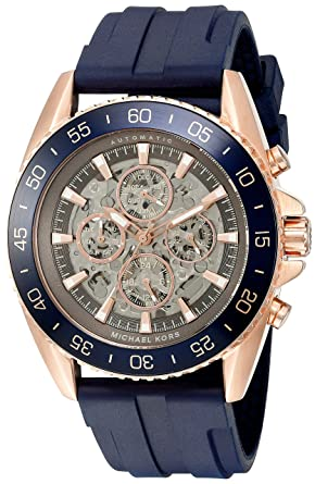 f8df02074156 Image Unavailable. Image not available for. Color  Michael Kors Men s Jet  Master Blue Watch MK9025