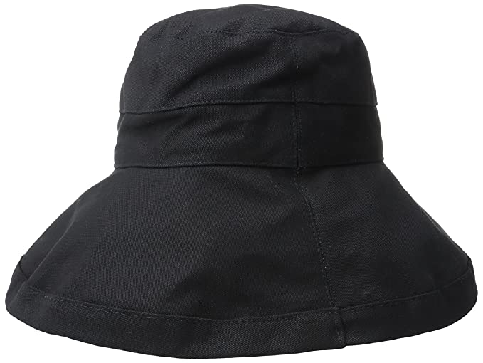8e338262 Image Unavailable. Image not available for. Colour: Scala Women's Cotton  Big Brim Hat with Inner Drawstring and Upf 50+ Rating ...