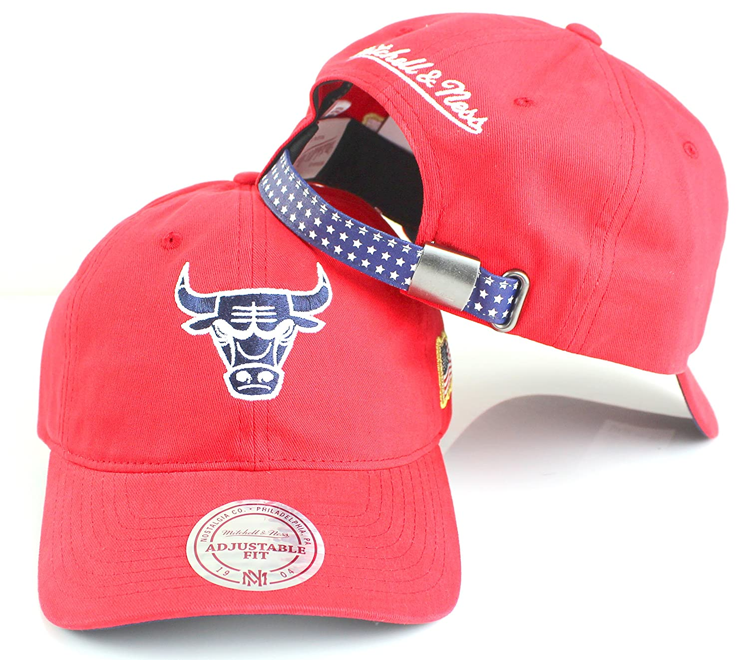 Mitchell /& Ness NBA Stars Washed Cotton Dad Hat Red