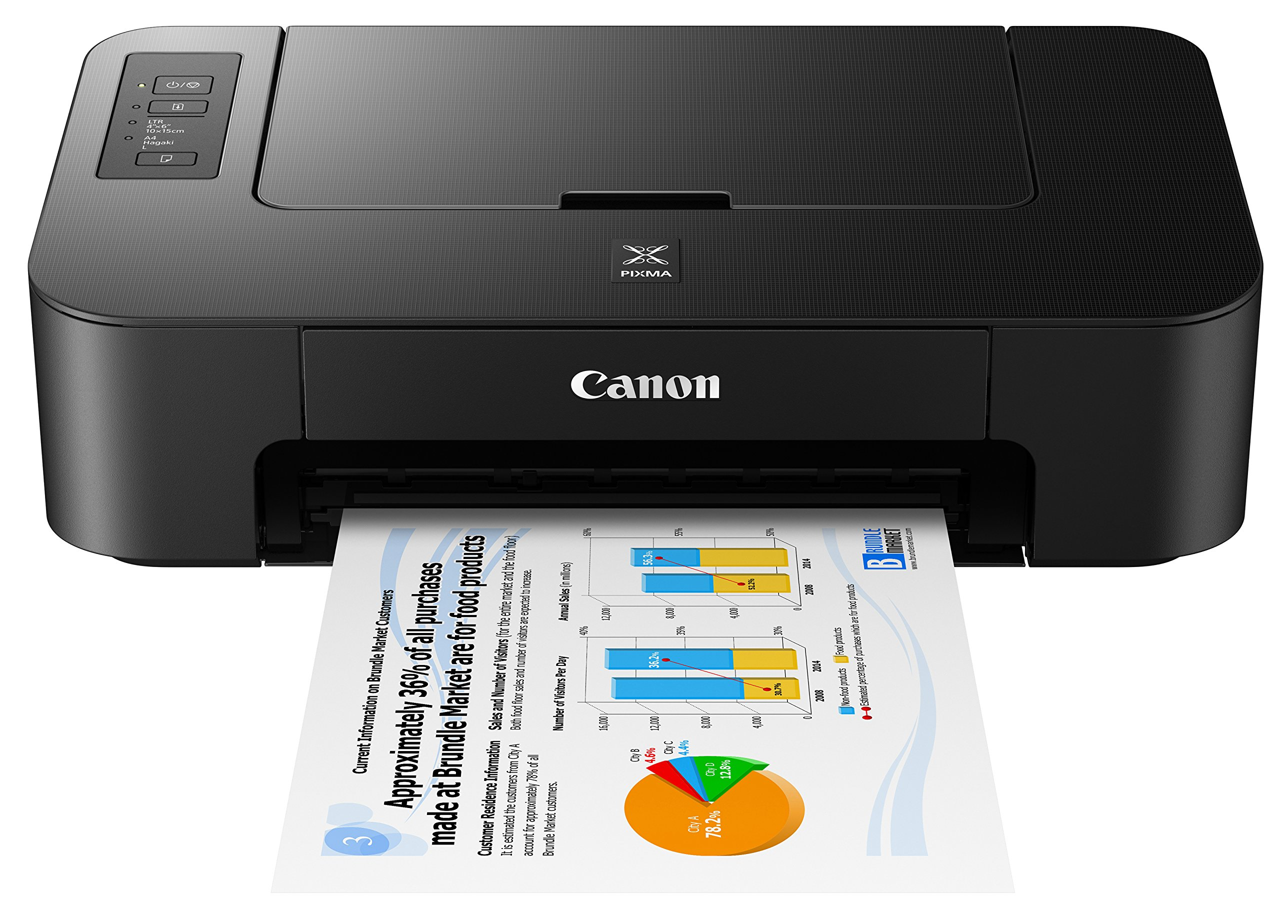 Canon TS202 Inkjet Photo Printer, Black by Canon