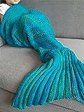 iEFiEL Superbe Couverture de Sirène pour Enfant Filles Queue de sirène Plaid Tricoté chaud et doux (Style 3), Age recomandé 4-8 Ans
