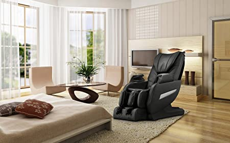 iComfort Beige Faux Leather Reclining Massage Chair-IC1126-Beige ...