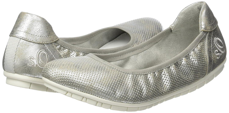S.Oliver Damen 22119 Geschlossene (Silver Ballerinas Silber (Silver Geschlossene 981) 061b07