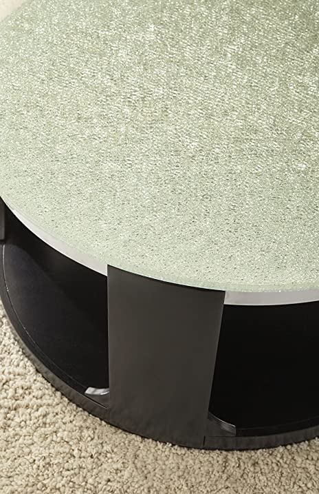 Amazoncom Steve Silver Croften Cracked Glass Cocktail Table with