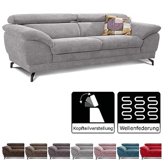 Cavadore sofá Sheldon/Grandes sofá con reposacabezas ...