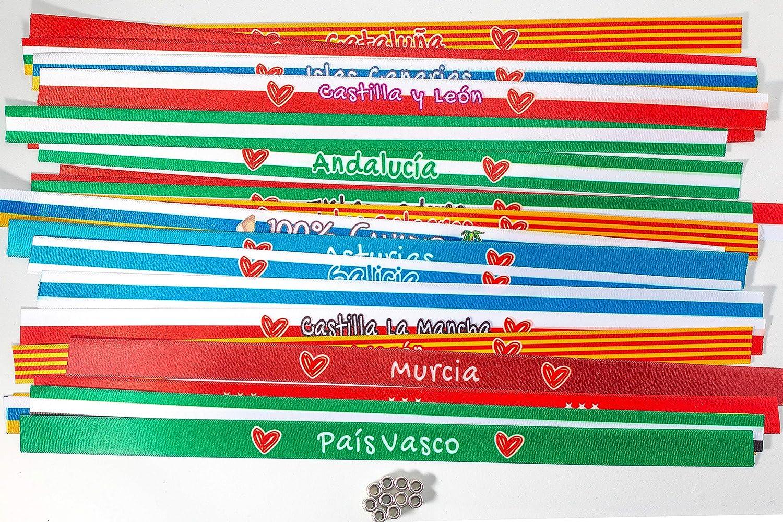 Pulseras de tela personalizadas con frases: ORGULLOSO DE MI TIERRA ...