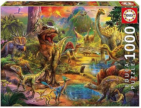 Amazon.com: Educa 1000 Pc Land of Dinosaurs Puzzle: Toys & Games