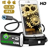 Endoscope Wifi - Inspection Camera - Endoscope - Snake Camera Iphone 6 7 Android IOS - USB Borescope Endoscope - Wireless Waterproof Home Automotive Vehicle Welding Digital LED Inspection Camera HD