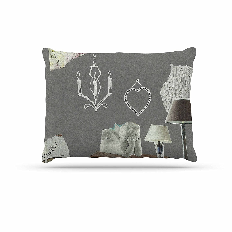 KESS InHouse Juliana Motzko Geo1 orange Multicolor Dog Bed, 50  x 40