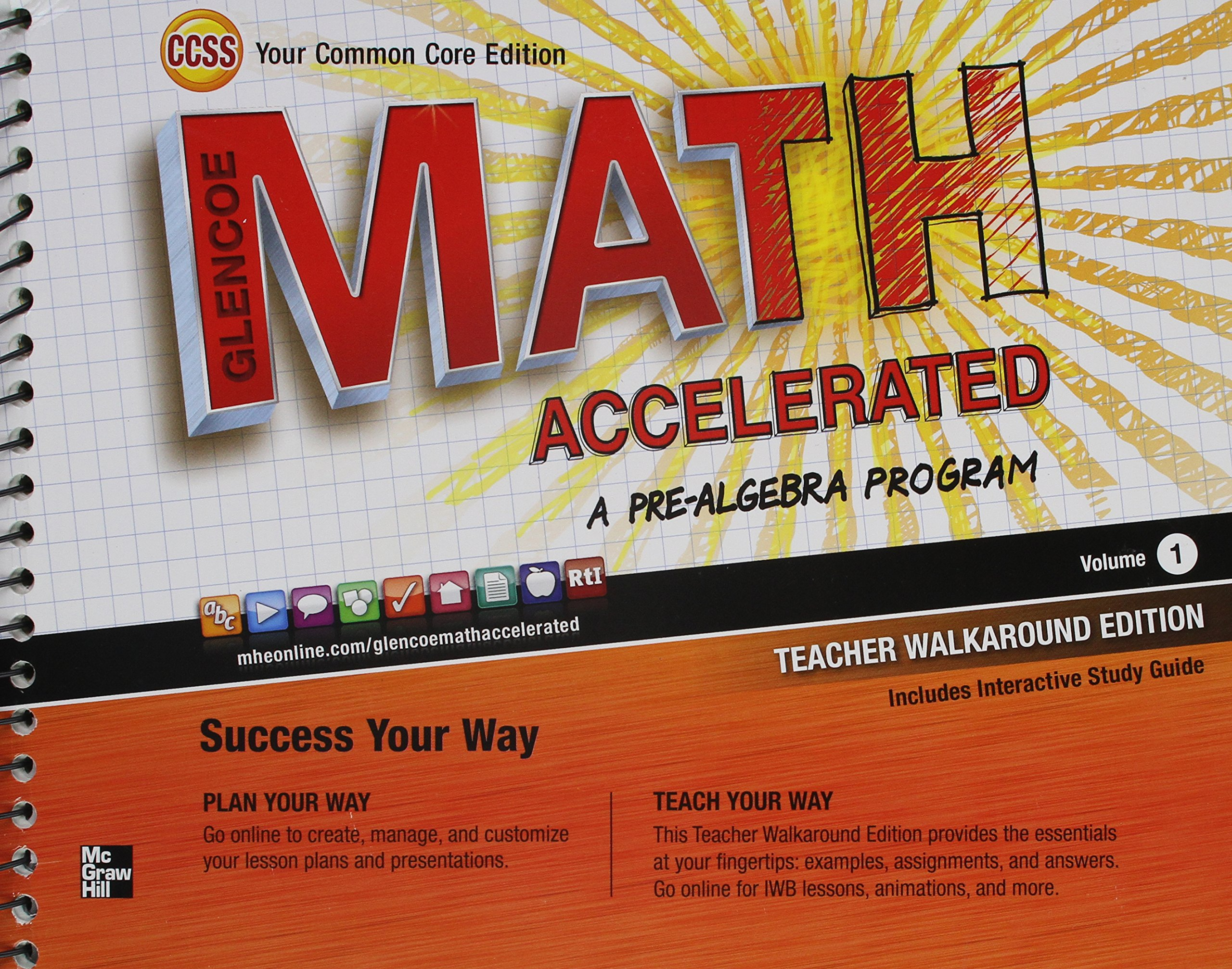 Amazoncom Glencoe Math Accelerated A Pre Algebra Program Volume 1