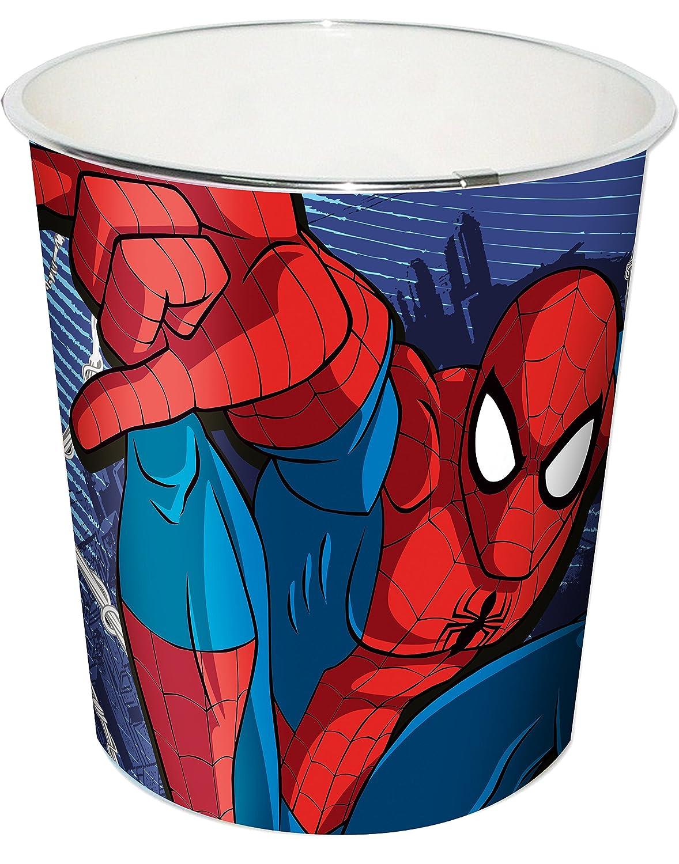 A2Z 4 Kids Enfants Spiderman Poubelle, Rouge, 20x 20x 22cm MV92309