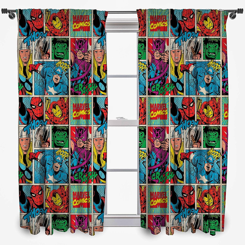 New Marvel Comics Strike Pair Of Curtains Boys Kids