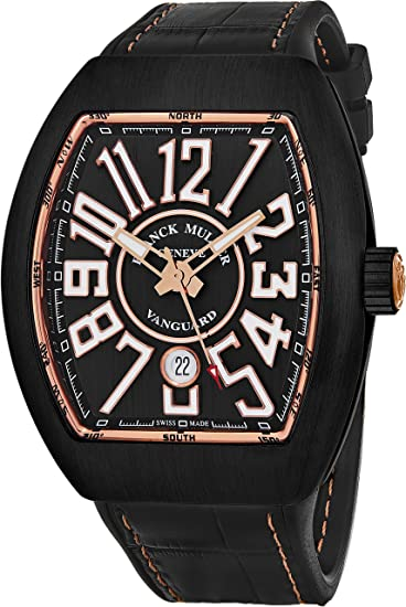 Franck Muller Vanguard - Reloj automático para hombre, titanio, oro rosa, esfera gris