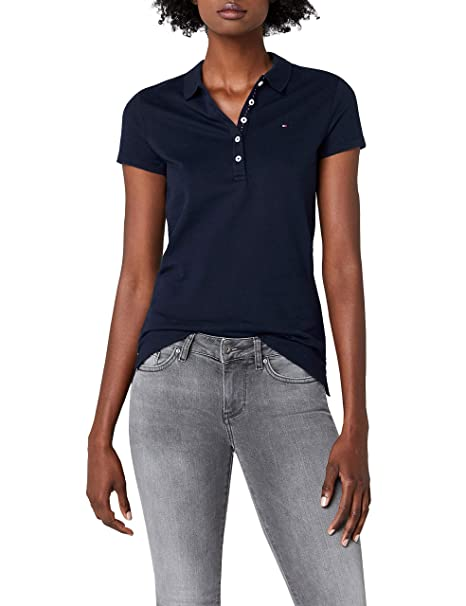 922c21ccb08 Tommy Hilfiger Blusa Polo para Mujer  Amazon.com.mx  Ropa
