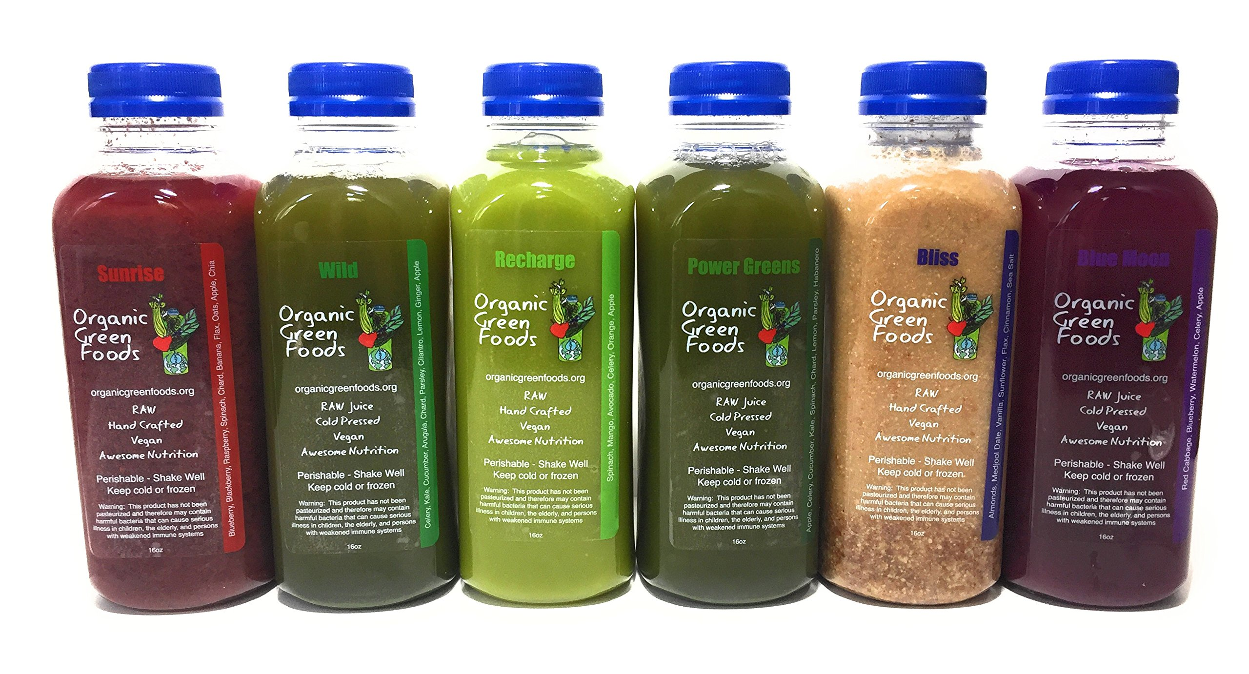 Organic Green Foods 3 Day Raw Signature Juice Cleanse - 18 Bottles