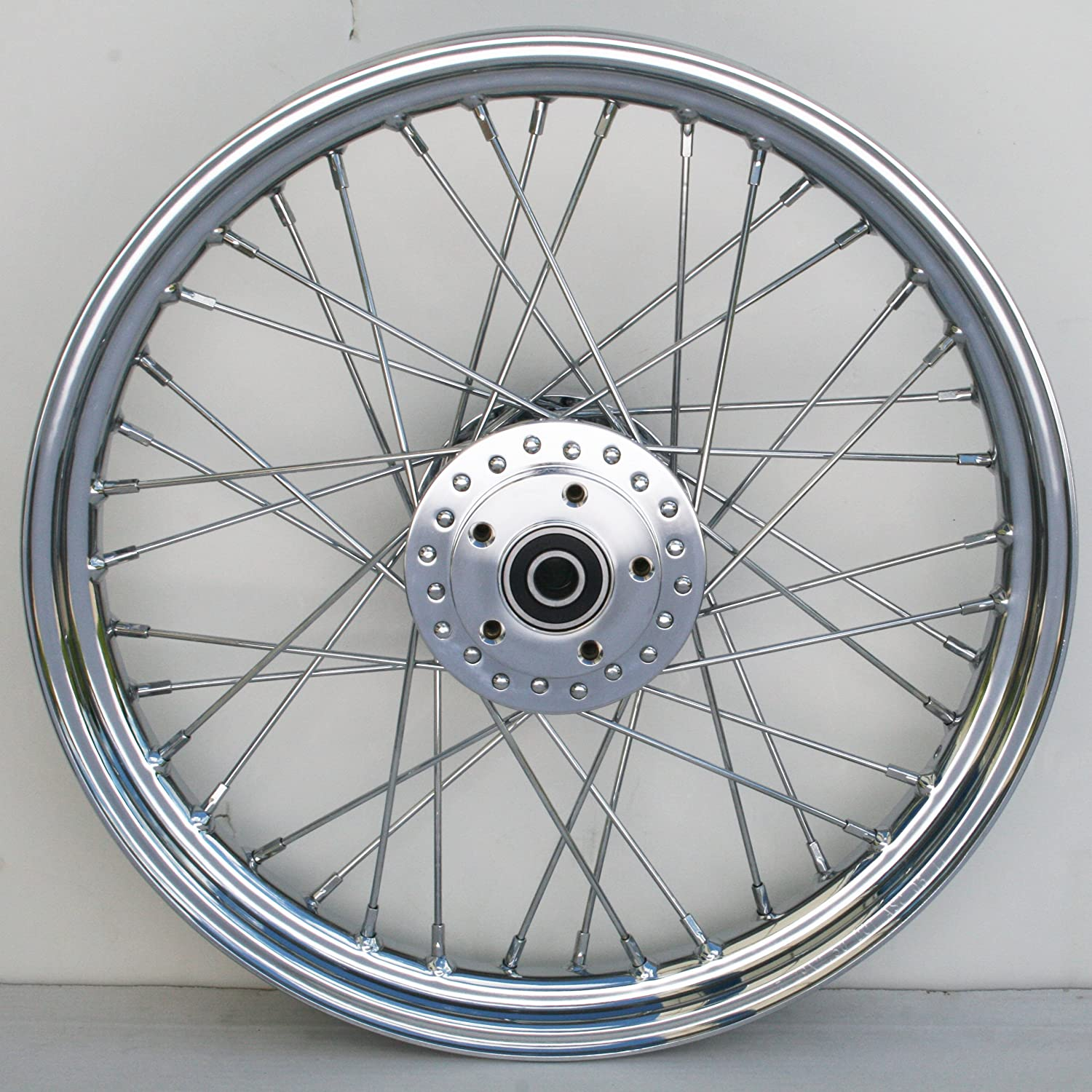 Ultima Complete Chrome 40 Spoke Front Wheel 19 x 2.50 2000 /& Later Models Single or Dual Disc 36-370