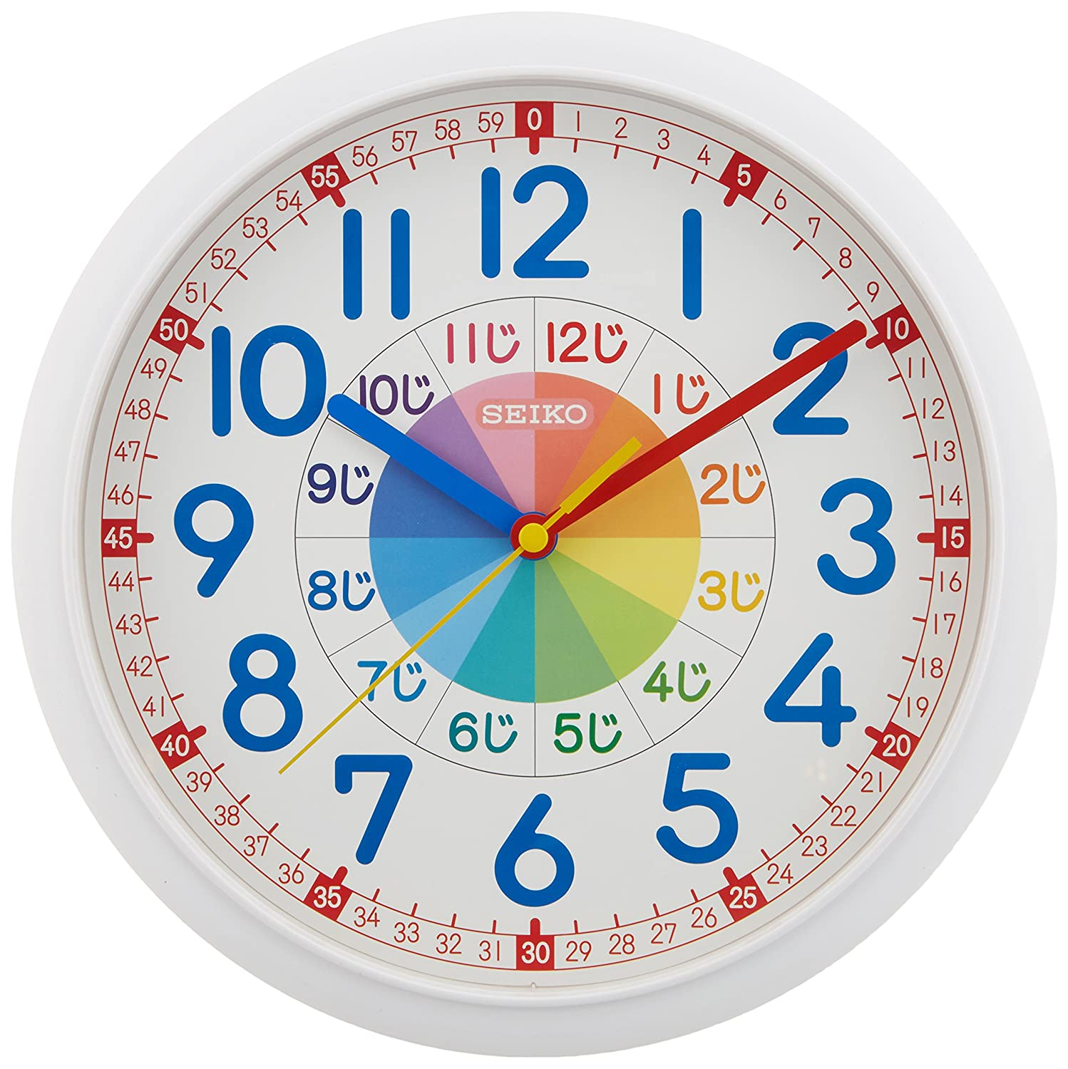 Amazon seiko clock seiko clock educational wall clock amazon seiko clock seiko clock educational wall clock white kx617w home kitchen ccuart Choice Image