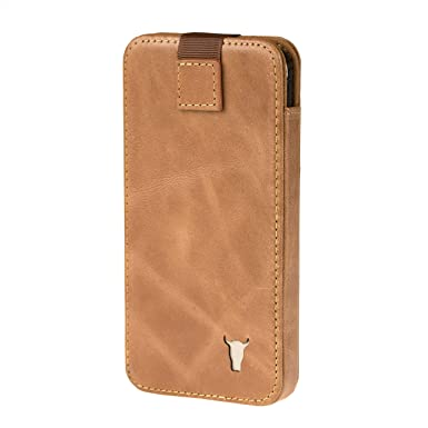 quality design 5e4d3 e3384 TORRO Premium Leather Pouch Case compatible with Apple iPhone XS Max.  Sleeve Case in Genuine USA Tan Leather for iPhone XS Max- Tan