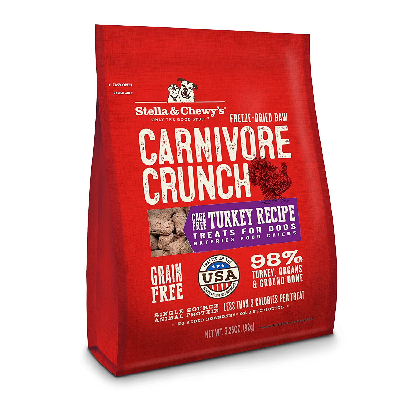 Stella & Chewy's Freeze-Dried Raw Carnivore Crunch Cage-Free Chicken Recipe Grain-Free Dog Treats, 3.25 oz. Bag Stella & Chewy's CC-C3