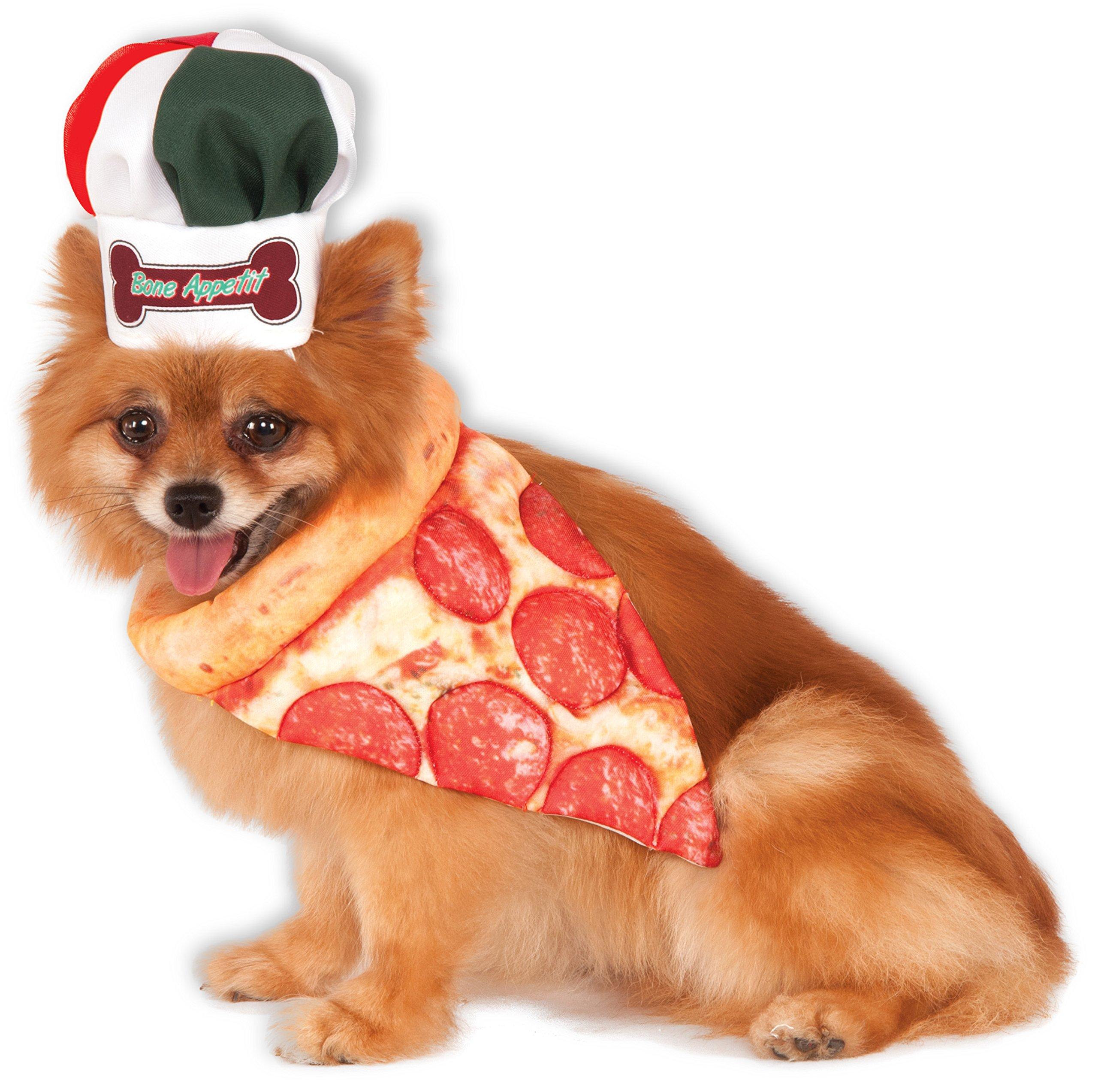 Bone Appetite Pizza Chef Pet Set, Medium/Large by Rubie's
