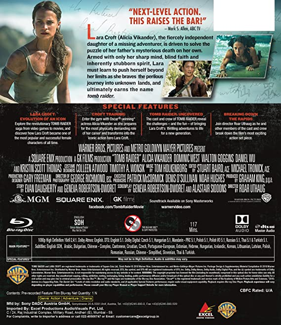 Amazon in: Buy Tomb Raider DVD, Blu-ray Online at Best