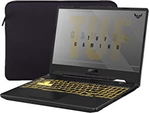 """ASUS TUF VR Ready Gaming Laptop, 15.6"""" IPS FHD, AMD Ryzen 7 4800H Octa-Core up to 4.20 GHz, NVIDIA RTX 2060, 32GB RAM, 1TB SSD, RGB Backlit KB, RJ-45 Ethernet, Mytrix Sleeve, Win 10"""