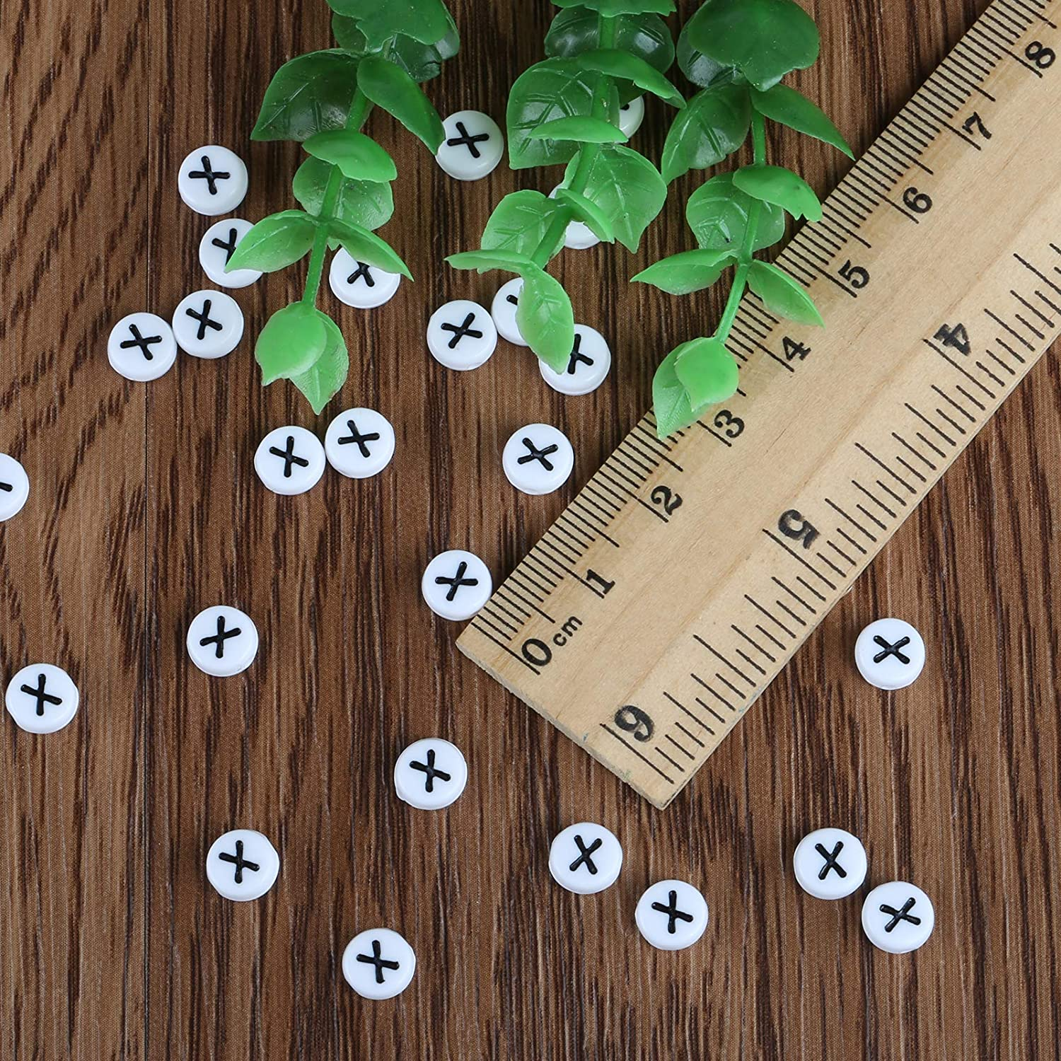 6mm Alphabet Letter Roundd Beads Spacer Bead for Jewelry Making Finding Art Craft DIY Decoration Naler 300pcs Letter Beads B