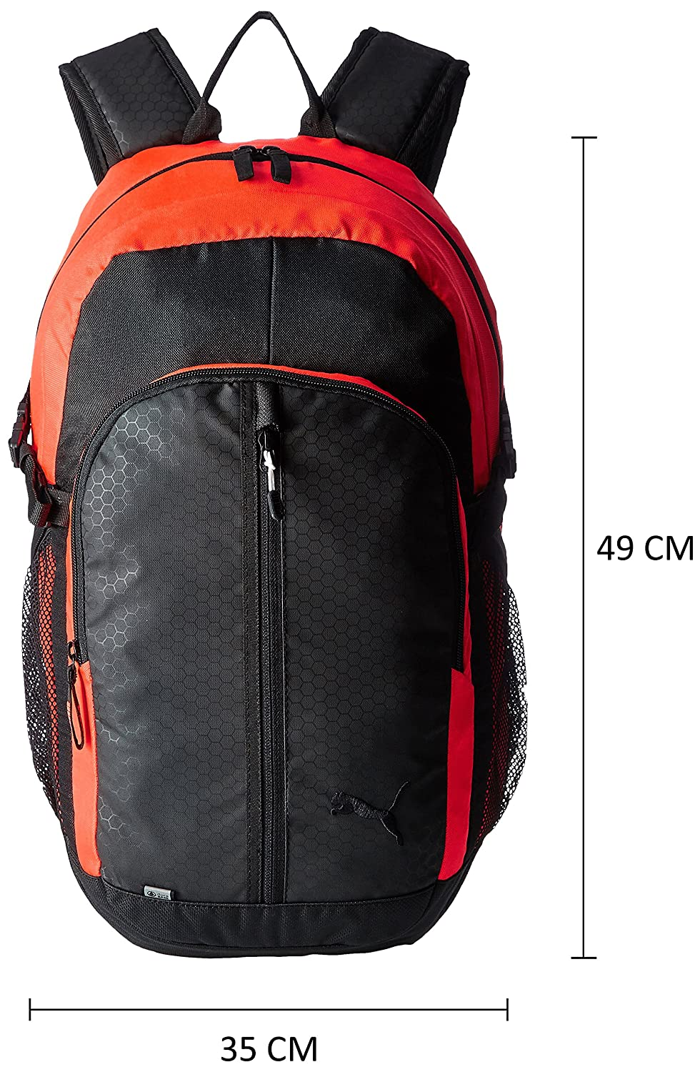 f4cfb1033735 Puma 24.5 Ltrs Black and Red Blast Casual Backpack (7375811)  Amazon.in   Bags