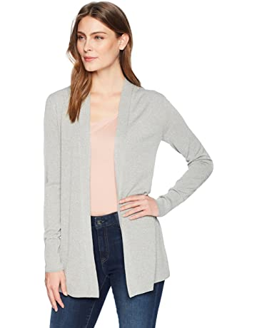 69954d6b2d Amazon Brand - Lark & Ro Women's Lightweight Long Sleeve Mid-Length Cardigan  Sweater
