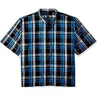 Dickies Mens WS550 Big-Tall Yarn Dyed Short Sleeve Camp Shirt Big-Tall Short Sleeve Button Down Shirt - Multi