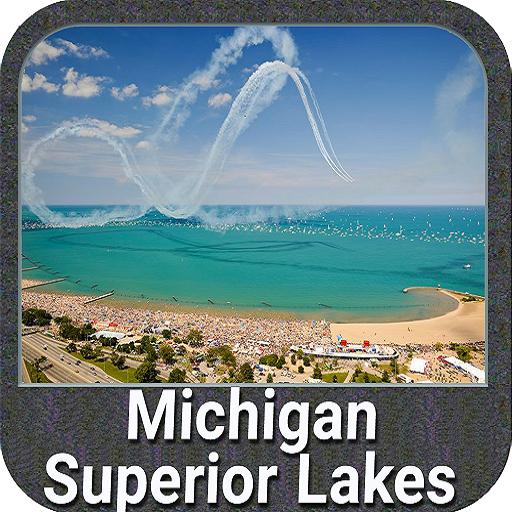 Michigan & Superior Lakes GPS (Superior Lake Chart Depth)