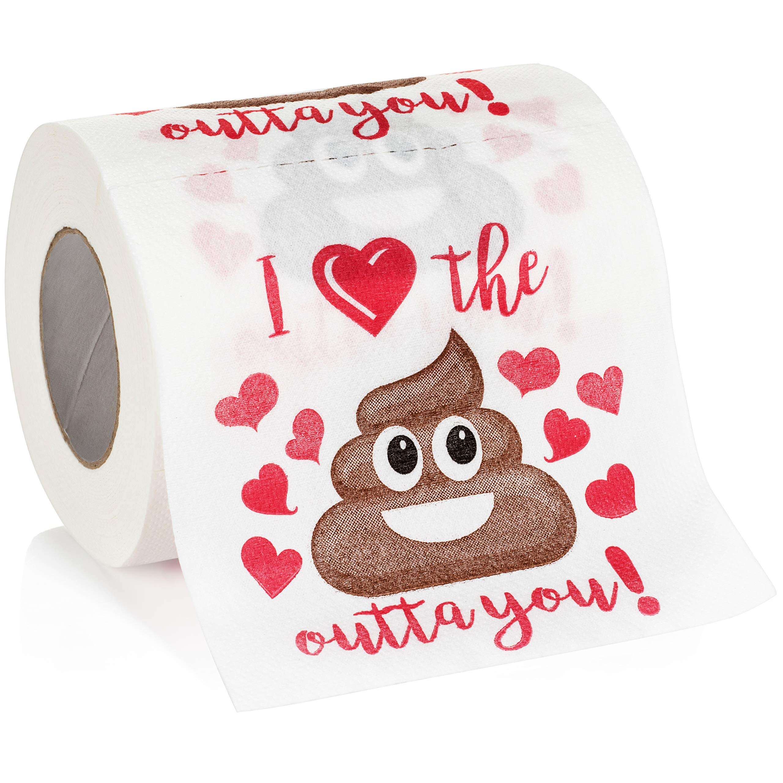 Maad Romantic Novelty Toilet Paper - Funny Gag Gift for Valentine's Day or Anniversary Present by Maad (Image #1)