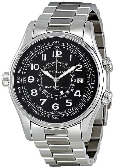 Hamilton H77505133 - Reloj de pulsera hombre, acero inoxidable, color Plata: Amazon.es: Relojes