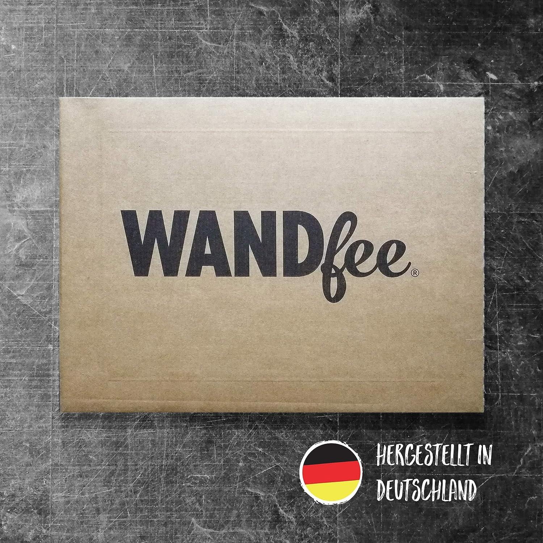 WANDfee/® Wandtattoo Vierecke 60 Aufkleber FARBWUNSCH Wandaufkleber Kinderzimmer Fliesenaufkleber Badezimmer K/üche schwarz schwarz