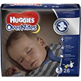 HUGGIES OverNites Diapers, Size 3, 28 ct., JUMBO PACK Overnight Diapers (Packaging May Vary)