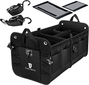 TrunkCratepro Collapsible Multi Compartments Portable Trunk Organizer